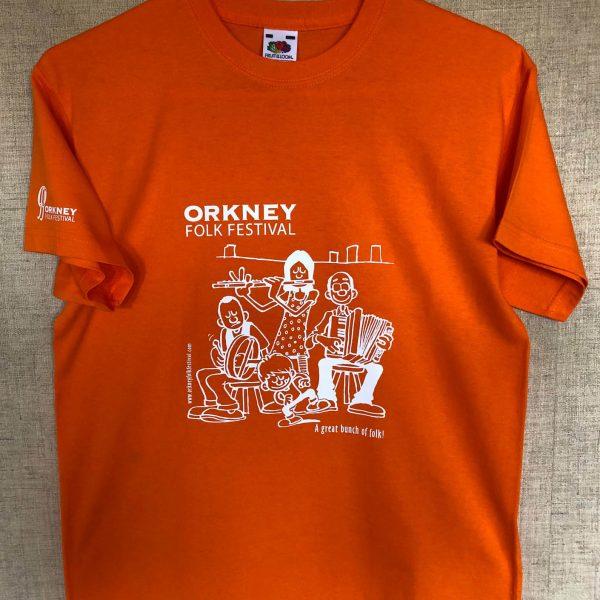 T-shirt Childrens Orange